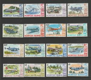 Norfolk Islands 1980/1 Aircraft Defs set VFU SG 236/51