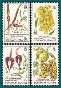 Solomon Islands 1989 Orchids 2, MNH (55c fault) #631-634,SG640-SG643
