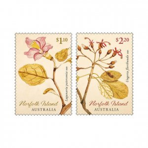 2019 Norfolk Is Botanic Art (2) (Scott NA) MNH