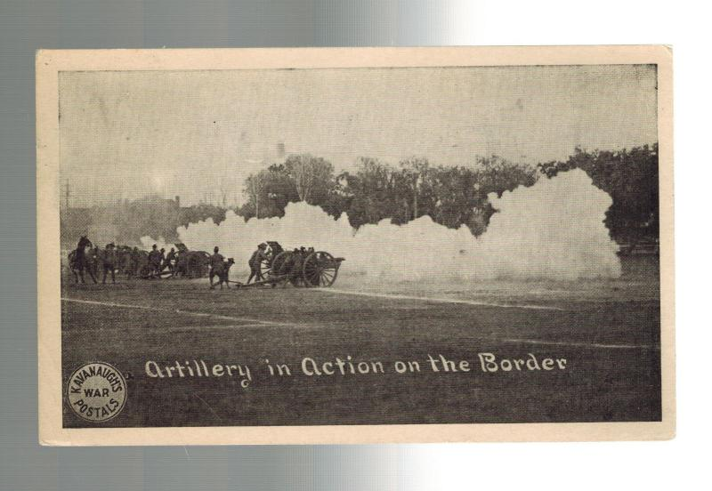 1916 Fort Bliss Texas US Army Soldier Artillery Postcard Cover Mexico Revolution