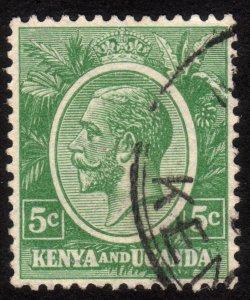 1927, Kenya Uganda, 5c, Used, Sc 20