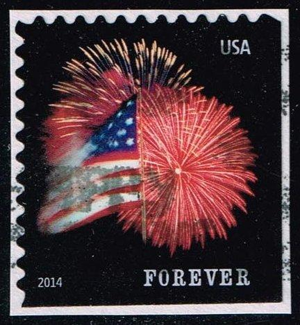 US #4855 Fort McHenry Flag and Fireworks; Used (0.25)