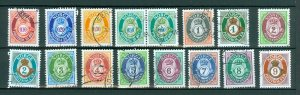 Norway. Lot 16 Different Posthorn,Cancel 1990-2000is.
