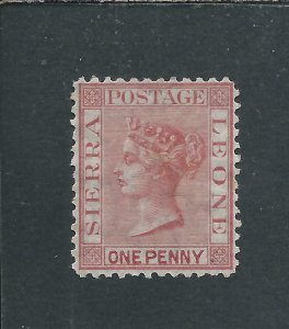 SIERRA LEONE 1872-73 1d ROSE-RED PERF 12½ MM SG 7 CAT £85