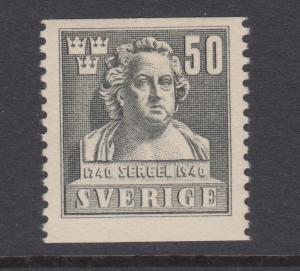 Sweden Sc 315 MNH. 1940 50ö Tobias Sergel coil, signed