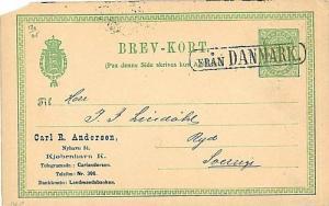 DENMARK - POSTAL STATIONERY: SWEEDISH PAQUEBOAT MARK