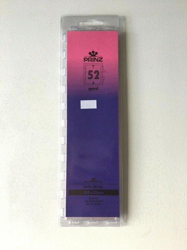 25pcs PRINZ Gard Stamp Strip Mounts Pre Cut Strips (52 x 210mm)