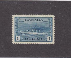 CANADA (KSG573) # 262 VF-MLH $1 RCN TRIBAL CLASS DESTROYER / BLUE CAT VALUE $100
