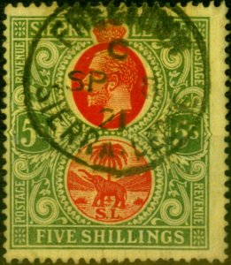 Sierra Leone 1912 5s Red & Green-Yellow SG126 Fine Used