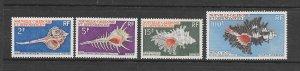 SHELLS - NEW CALEDONIA #374-6, C65  MNH
