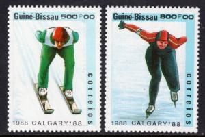 Guinea Bissau 709-710 Winter Olympics MNH VF