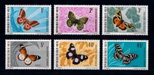 [70706] Burkina Faso Upper Volta 1971 Insects Butterflies  MNH