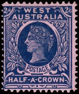 Western Australia Scott 85, Perf. 12x12.5 (1902) Mint LH F-VF, CV $77.50 M