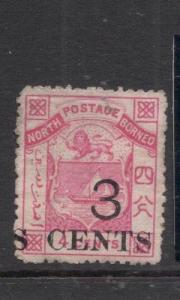 North Borneo SG 18 Overprint Shift MOG (4deh)