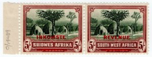 (I.B) South-West Africa Revenue : Duty Stamp 5/- (from archive)