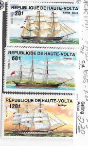 Burkina Faso #661,664,665 Ships (MNH) CV $2.20