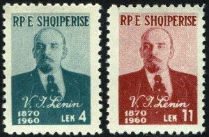 Albania #557-58  MNH - Lenin (1960)