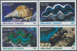 Marshall Islands 1986 SG71-74 Marine Life set MNH