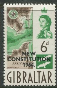 Gibraltar #166 MLH  Scott CV. $0.35.
