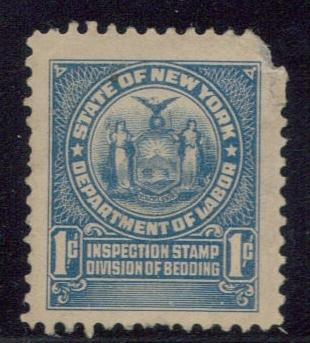 State of New York Department of Labor Tax 1 Cent Used
