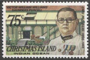 CHRISTMAS ISLAND 1978  75C, Sc 82 mnh, VF