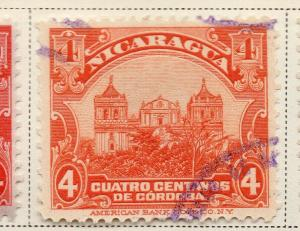 Nicaragua 1914-22 Early Issue Fine Used 4c. 323630