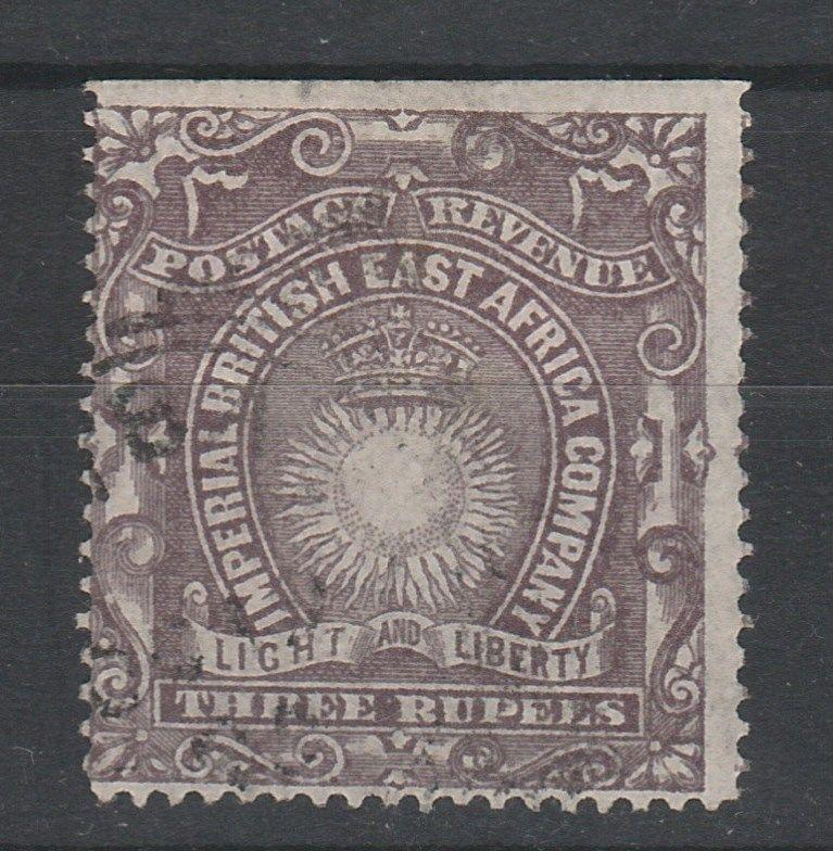 BRITISH EAST AFRICA 1890 LIGHT AND LIBERTY 3R