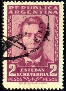 Esteban Echeverria (1805-1851), poet, Argentina stamp SC#666