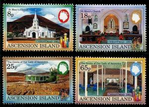 HERRICKSTAMP ASCENSION Sc.# 512-15 Christmas 1991