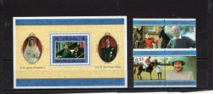 SOLOMON ISLANDS 1997 ROYALTY SET OF 4 STAMPS & S/S MNH