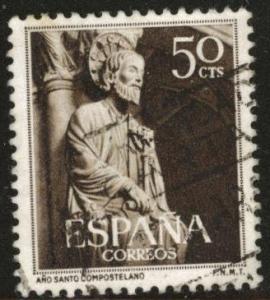 SPAIN Scott 799 Used 1954 St. James