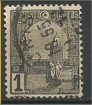 TUNISIA, 1906, used 1c, Mosque Scott 29