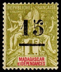 Madagascar - Malagasy Republic Scott 50 (1902) Mint NG F, CV $9.50 C