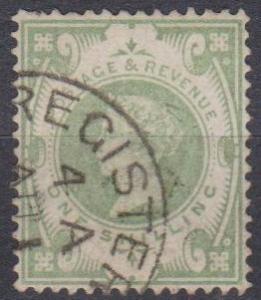 Great Britain #122 F-VF Used CV $60.00 (B2556)