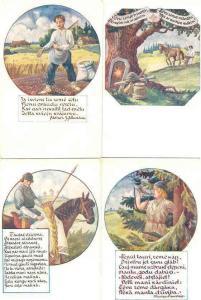 Latvia 4 unused Patriotic cards pre-1940