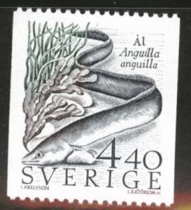 SWEDEN Scott 1680 MNH** 1988 Fish coil stamp