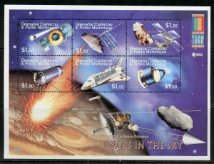 GRENADA GRENADINES ROCKETS IN THE SKY SET OF TWO  SHEETS  MINT NH