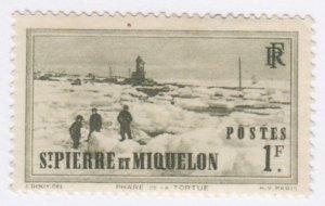 St Pierre & Miquelon, Sc 192, MLH, 1940, Tortue Lighthouse