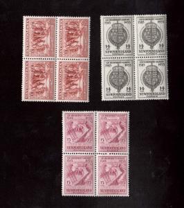 Newfoundland #220 - #222 VF Mint Blocks