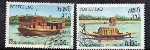 LAOS  SC# 394+395  USED 1982  60c+1k  SEE SCAN