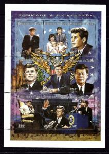 Chad 712J NH 1997 John F Kennedy sheet of 9