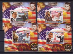 Sao Tome and Principe 2008 BARACK OBAMA 4 SS Imperf.MNH Mi.#3772/3775