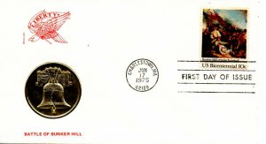 US FDC #1564 Bunker Hill, Madallion (9886)