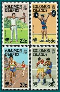 Solomon Islands 1988 Olympic Games, MNH #622-625,SG631-SG634