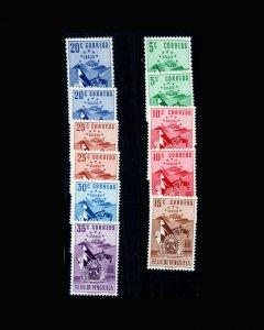 VINTAGE:VENEZUELA 1952-53 OGNHPOF SCOTT# 513-519 $ 41.75 LOT#VEN1952Q