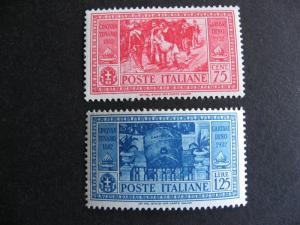 ITALY Sc 285-6 MH nice stamps here, check them out!