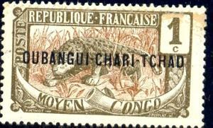 Leopard, Ubangi-Shari stamp SC#1 mint