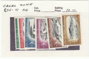 Canal Zone, Scott #C36-41 Airmail set - Mint Hinged