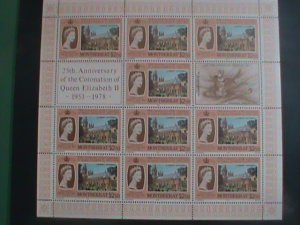 MONTSERRAT-1978 SC#388-25TH ANNIV: CORONATION OF QUEEN ELIZABETH II MNH SHEET