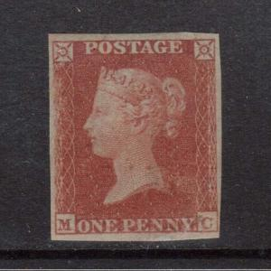 Great Britain #3 Mint Red Brown On Bluish Paper
